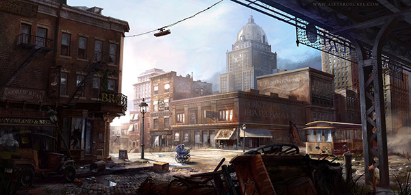 Abandoned NY 1900 in Stunning Post Apocalypse Artworks