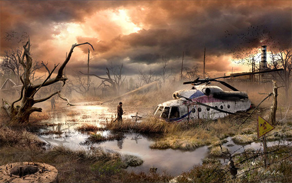 Chernobyl Exclusion Zone in Stunning Post Apocalypse Artworks