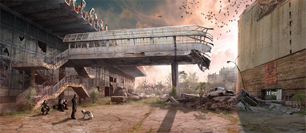 City Wasteland in Stunning Post Apocalypse Artworks