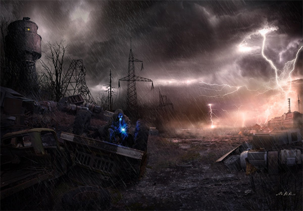 Dump. Crazy Night in Stunning Post Apocalypse Artworks