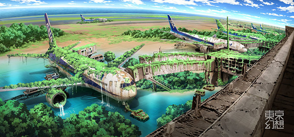 Haneda Airport in Stunning Post Apocalypse Artworks