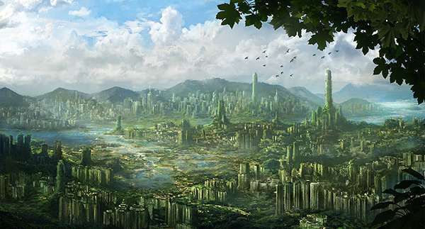 Hong Kong Ruins in Stunning Post Apocalypse Artworks