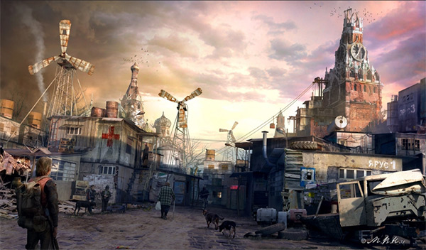 Moscow in Stunning Post Apocalypse Artworks
