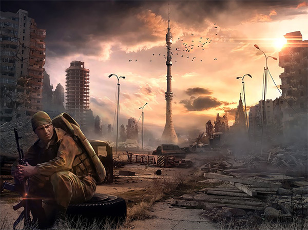 Ostankino Tower in Stunning Post Apocalypse Artworks