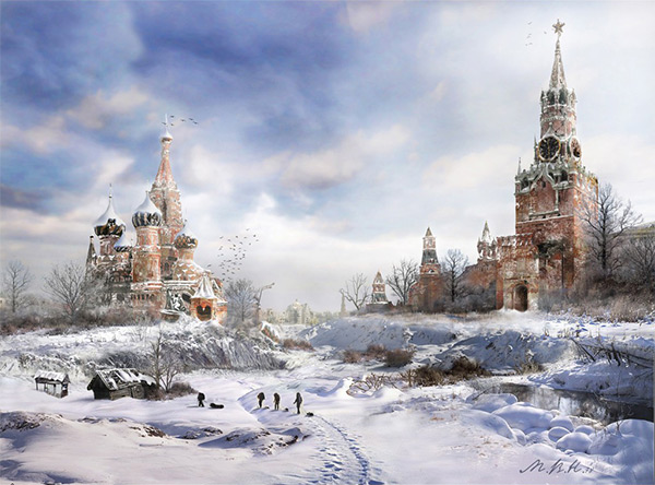 Red Square - Seasons in Stunning Post Apocalypse Artworks