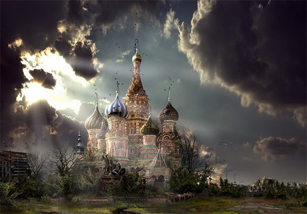 Red Square in Stunning Post Apocalypse Artworks