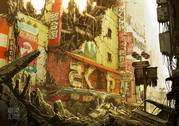 Sakuraya in Stunning Post Apocalypse Artworks