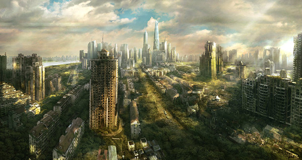 Shanghai Ruins in Stunning Post Apocalypse Artworks