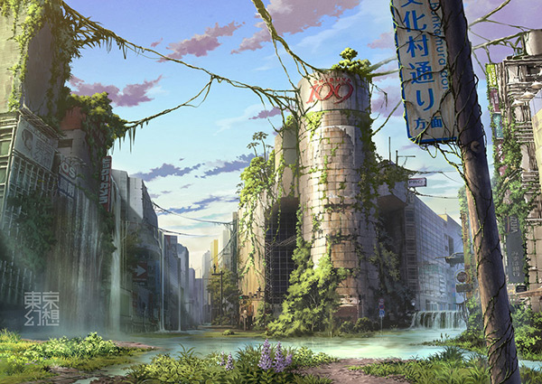 Shibuya in Stunning Post Apocalypse Artworks