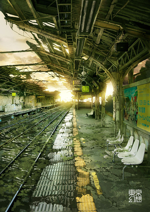 Yoyogi Station in Stunning Post Apocalypse Artworks