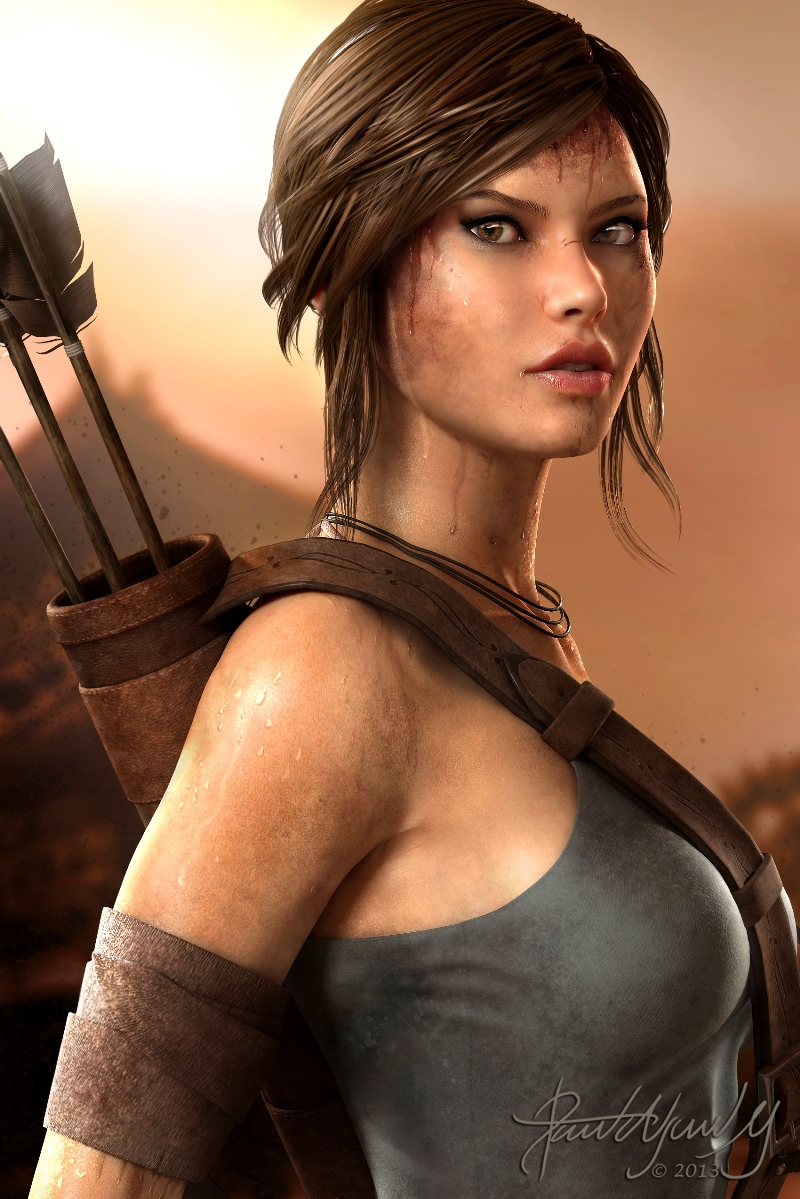 Lara Croft, David Alejandro Mejía in The Most Beautiful CG Girls 2