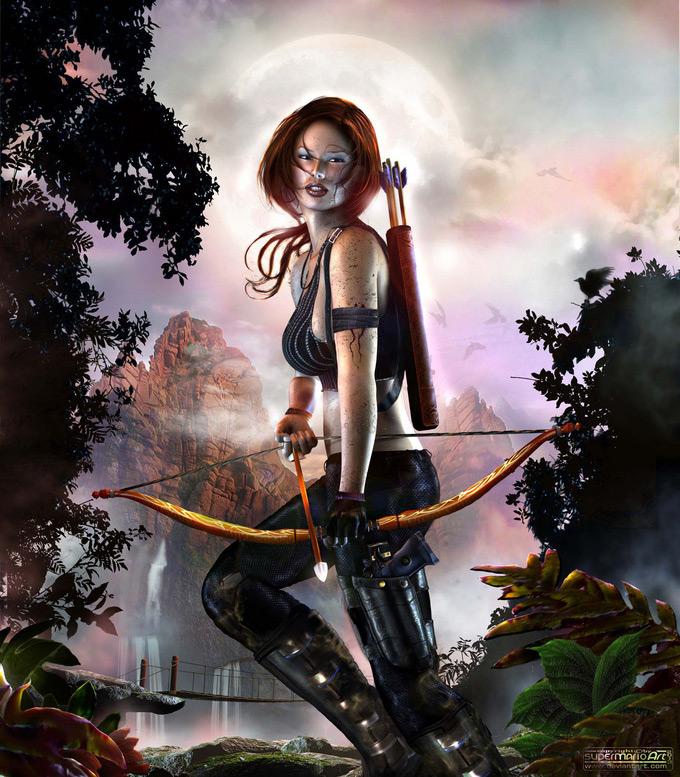 Lara Croft Reborn, MARIO LIBERTI in The Most Beautiful CG Girls 2