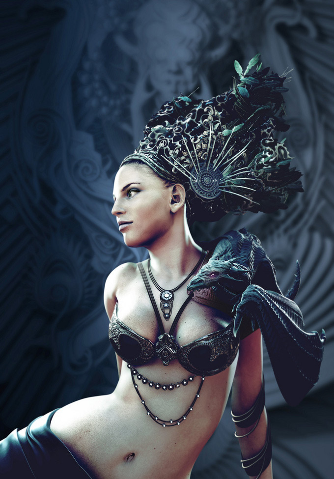 Mistress of Dragons, Daniele Scerra in The Most Beautiful CG Girls 2