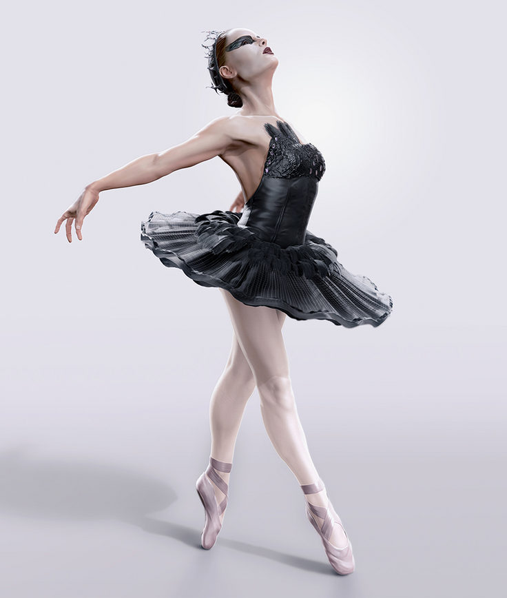 Nina from Black Swan by Hugo Tguerra in The Most Beautiful CG Girls 2