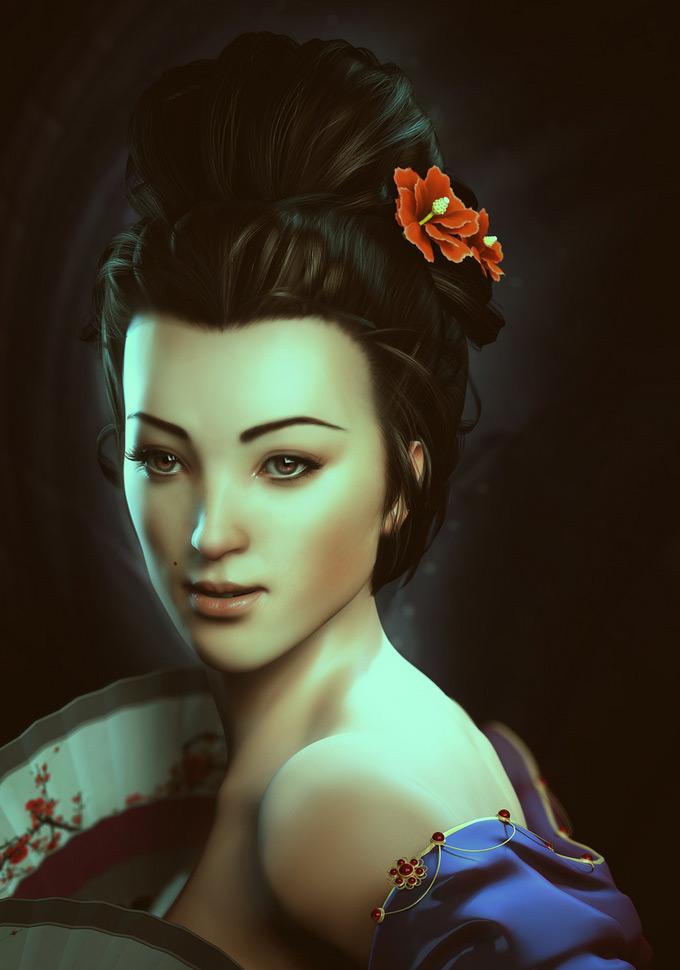 The Beauty Li Bingbing , Baolong Zhang in The Most Beautiful CG Girls 2
