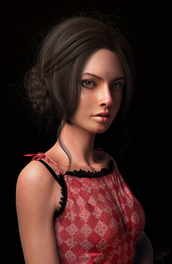 a girl ; Kyle Hoo(3D), kyle hoo in The Most Beautiful CG Girls 2