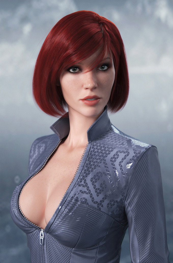 bust, Dmitry Cheremisin in The Most Beautiful CG Girls 2